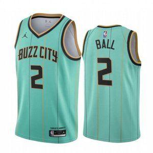 Men's Hornets LaMelo Ball Green City Jerse #2 NBA